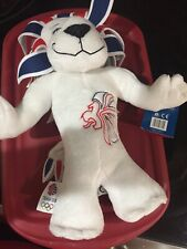 pride the lion stuffed animal official TEAM GB. London 2012. NONsmoking home.
