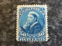 CANADA POSTAGE STAMP SG116 50 CENTS BLUE MOUNTED MINT