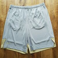 Nike Breathe Knit Player Short Pocket Men Dri-Fit Gray/Yellow AO5914 Football