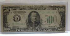1934A Five Hundred Dollar Bill $500 Chicago