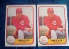 1981 Fleer Tom Seaver # 200 Two card lot.Reds great.Free shipping
