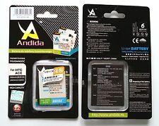 Batteria maggiorata originale ANDIDA compatibile Htc BD26100, BA-S470 da 1600mAh