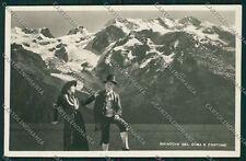 Torino Aosta Ghiacciai del Rosa Costumi Foto cartolina QQ7756