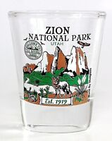 ZION UTAH NATIONAL PARK SERIES COLLECTION SHOT GLASS