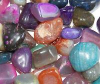 Trommelsteine poliert, Achate, bunte Mischung, Größe 2-3 cm, 500 g (21,90 €/kg)