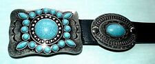 Elvis Style Turquoise and Silver Navajo Western Concho Belt