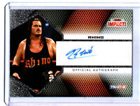 TNA Rhino 2009 Tristar Impact SILVER Authentic Autograph Card