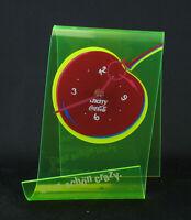 Coca Cola Cherry Coke Wanduhr Tischuhr neon gelb 90er Reklame Werbung Vintage