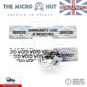 Warranty Labels Void Stickers Dogbone Serial Security Seal Asset Tamper Proof