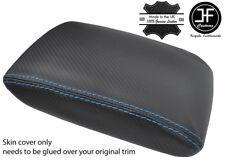 Puntada Azul Fibra De Carbono Vinilo Apoyabrazos Cubierta Para Subaru Impreza WRX STI 15-18