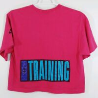Vintage Nike Cross Training 90s Crop Top XL Shirt Made USA Single Stitch Pink