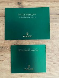 Original Rolex Booklet For Submariner / Sub Date 2018 New Last Gen