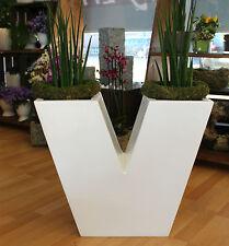 Blumentopf Blumenkasten Pflanzgefäß Design Vase B Ware Topf Übertopf Weiß