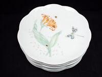 """Lenox Butterfly Meadow 6 Luncheon Plates, 9"""""""
