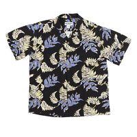 Kilauea Hawaiian Aloha Shirt VTG Loop Collar Rare Vibrant Palm Mens Medium NWOT