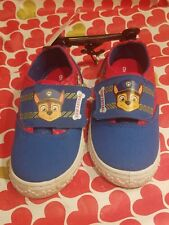 Paw Patrol Size 9 Toddler Boys Slip On Blue Red Canvas Shoes