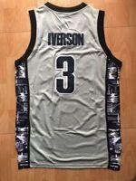 Allen Iverson #3 Georgetown Hoyas Philadelphia 76ers Basketball Jersey Stiched