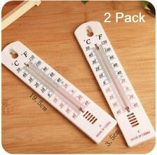 2 X Wall Thermometer Indoor Outdoor Hang Garden Greenhouse House Office Room