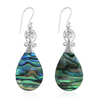 925 Sterling Silver Dangle Drop Earrings Abalone Shell Gift Jewelry for Women