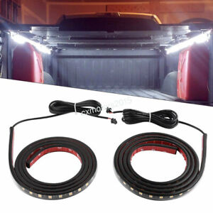 2) Cargo Truck LED Bed Light Strip& Splitter Cable for Pickup RV SUV Jeep Ford..