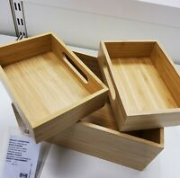 IKEA  502.818.56 Dragan Box, Set of 3, Bamboo