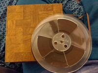 "RCA 7"" REEL TO TAPE USED BLANK IN BROWN BOX VTG PLASTIC STUDIO MASTERING AUDIO"