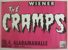 """THE CRAMPS CONCERT TOUR POSTER 1986 """"A DATE WITH ELVIS"""""""