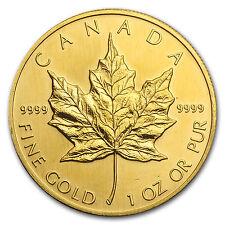 1993 Canada 1 oz Gold Maple Leaf BU - SKU #81562