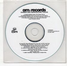 (GW873) Summer 2005 Underground Tracks, 11 tracks various artists - 2005 DJ CD