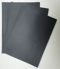 LEATHER PIECES OF COWHIDE 3 @ 25CM X 15CM  SMOOTH BLACK PIGMENTED 1.5 mm THICK