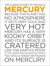Oopsy Daisy Canvas Wall Art Mercury Facts by Halfpence Design, 18 by 24-Inch