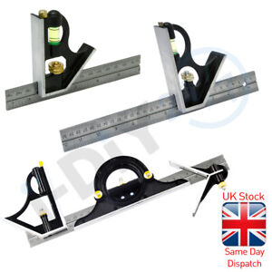 Rolson Combination Set Square Stainless Steel Ruler