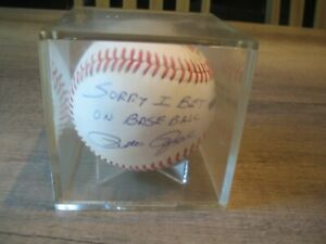 Pete Rose Sorry I Bet on Baseball Signed/Inscribed  OML Baseball PSA/DNA COA