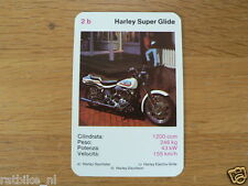 EASY RIDER 2B HARLEY SUPER GLIDE 1200 CC KWARTET KAART, QUARTETT CARD,SPIELKARTE