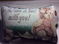 Tapestry Throw Pillow Afghan Tea For Two Is Best For You Word Pillow