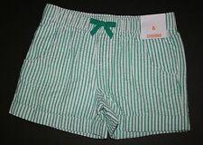 Nuovo Gymboree Verde a Righe Cotone a Strisce Alterne Pantaloncini Taglia 5 Year