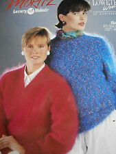 "Original Loweth Knitting Pattern 72 - Ladies Mohair Classic Sweaters 32""-40"""