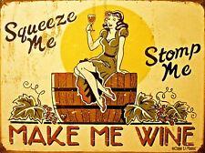 ADVERTISING DRINK ALCOHOL WINE VINO GRAPES GIRL GLASS BARREL POSTER PRINT LV699