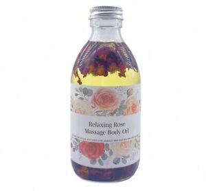Relaxing Rose Massage Body Oil infused with Rose Petals, 250ml