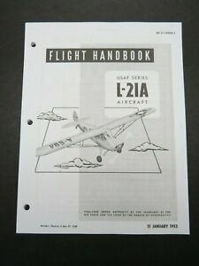 1953 Air Force Piper L-21 A Super Cub Pilot Aircraft Flight Operating Manual
