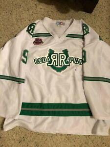 Cedar Rapids Roughriders Game Worn Hockey Jersey #9 AK XXL w/USHL 25th Ann.