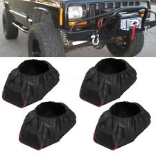 4PCS Waterproof Soft 420D Winch Cover For Driver Recovery 5,000-13,000 Capacity