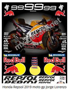 Honda Repsol 2019 Moto gp Jorge Lorenzo full decal set