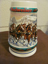 "Budweiser 1993 Holiday Beer Stein Collection ""Special Delivery"" By Nora Koerber"