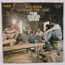 THE GUESS WHO: Bus Rider / Share the Land USA RCA Victor 45 w/ PS