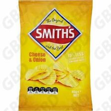 15x SMITHS CHEESE AND ONION CRINKLE POTATO CHIPS 45GM