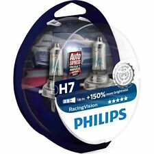 Philips Racing Vision RacingVision 150% H7 Headlight Bulbs (Twin) 12972RVS2