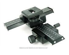 4 way adjustment Macro Shot Focusing Rail Slider for SLR DSLR DC Camera