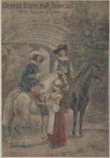 """""""GRANDS ECONOMATS FRANCAIS"""" Affiche d'intérieur originale entoilée 1910 G. TOMBA"""