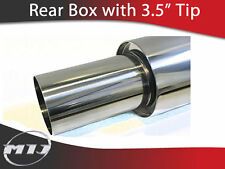 "MIJ Sports Exhaust Backbox 3.5"" Tip & 2.25"" Inlet 57mm"